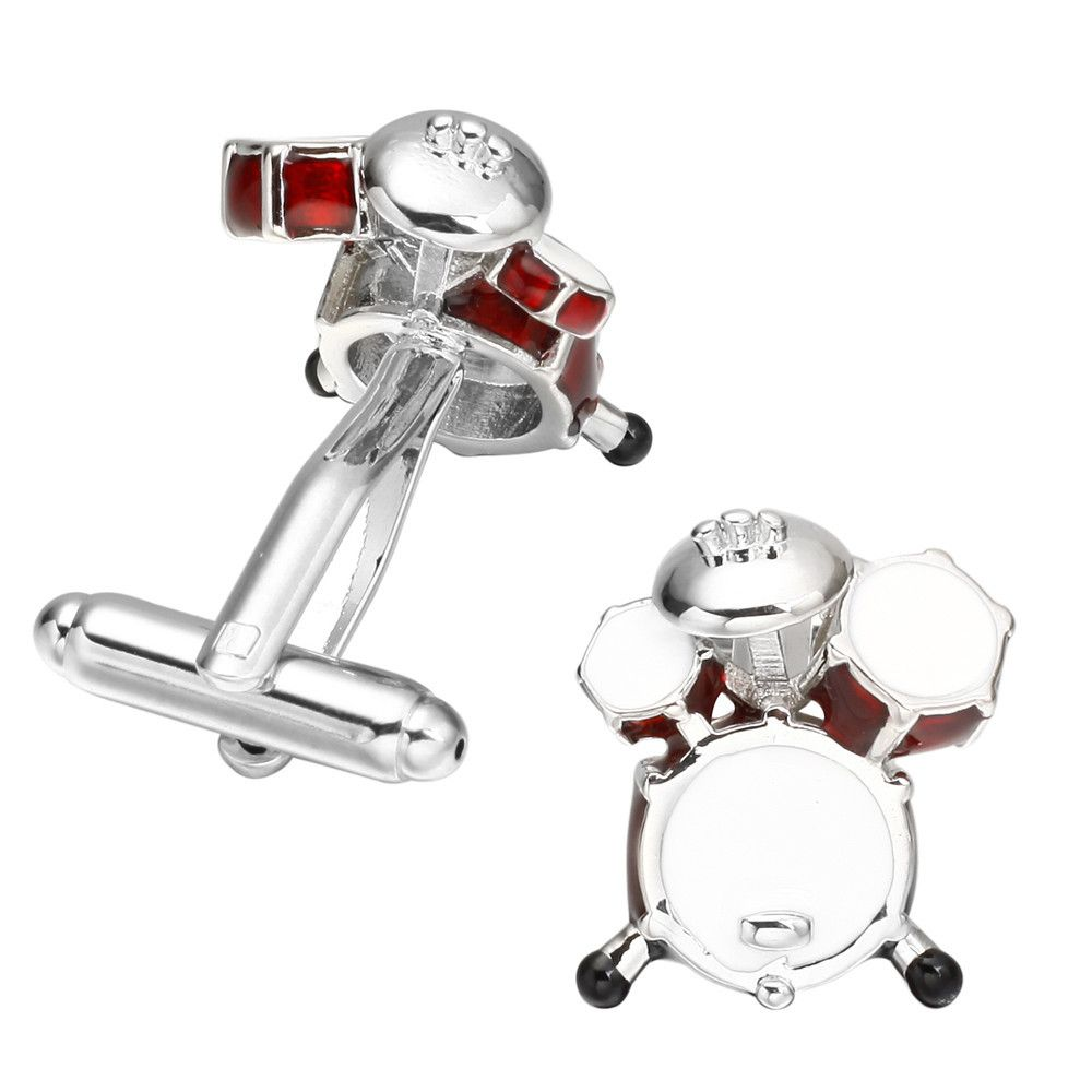 Fashion Colorful Drum Cufflinks French Long Sleeved Shirt Sleeve Nail