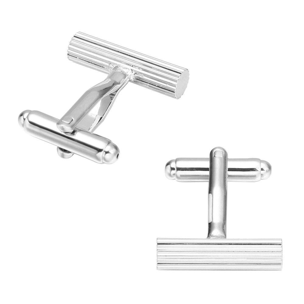 French Long Sleeved Shirt Nail Cuff Links Silver Cufflinks