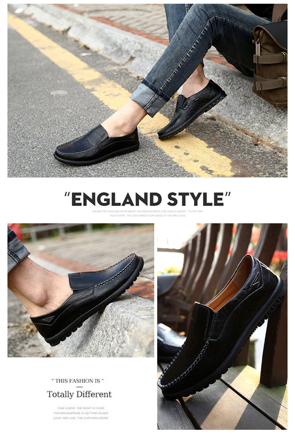Casual Driving  Men Soft Leather Shoes