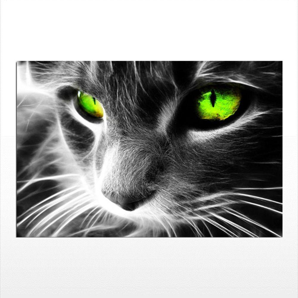 Naiyue 9538 Green Eyes Cat Print Draw Diamond Drawing