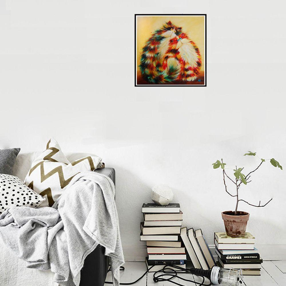 Naiyue 7131 Colorful Persian Cat Print Draw Diamond Drawing