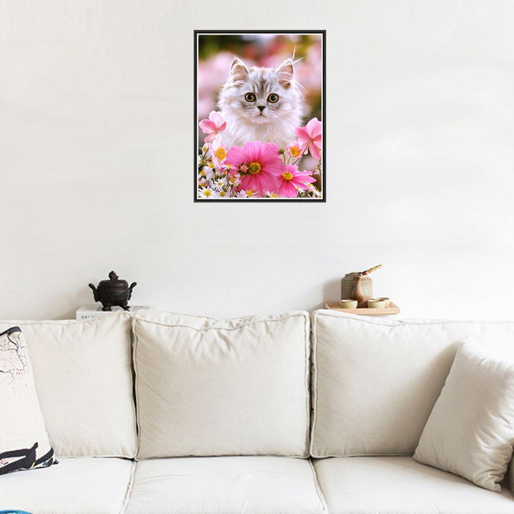 Naiyue 9734 Cute Cat Print Draw Diamond Drawing