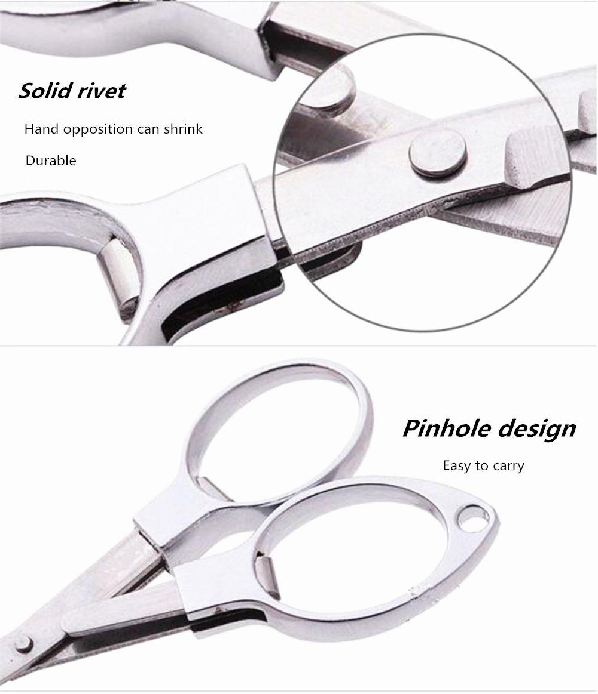 Alloy Travel Folding Nail Scissors 9 x 5CM