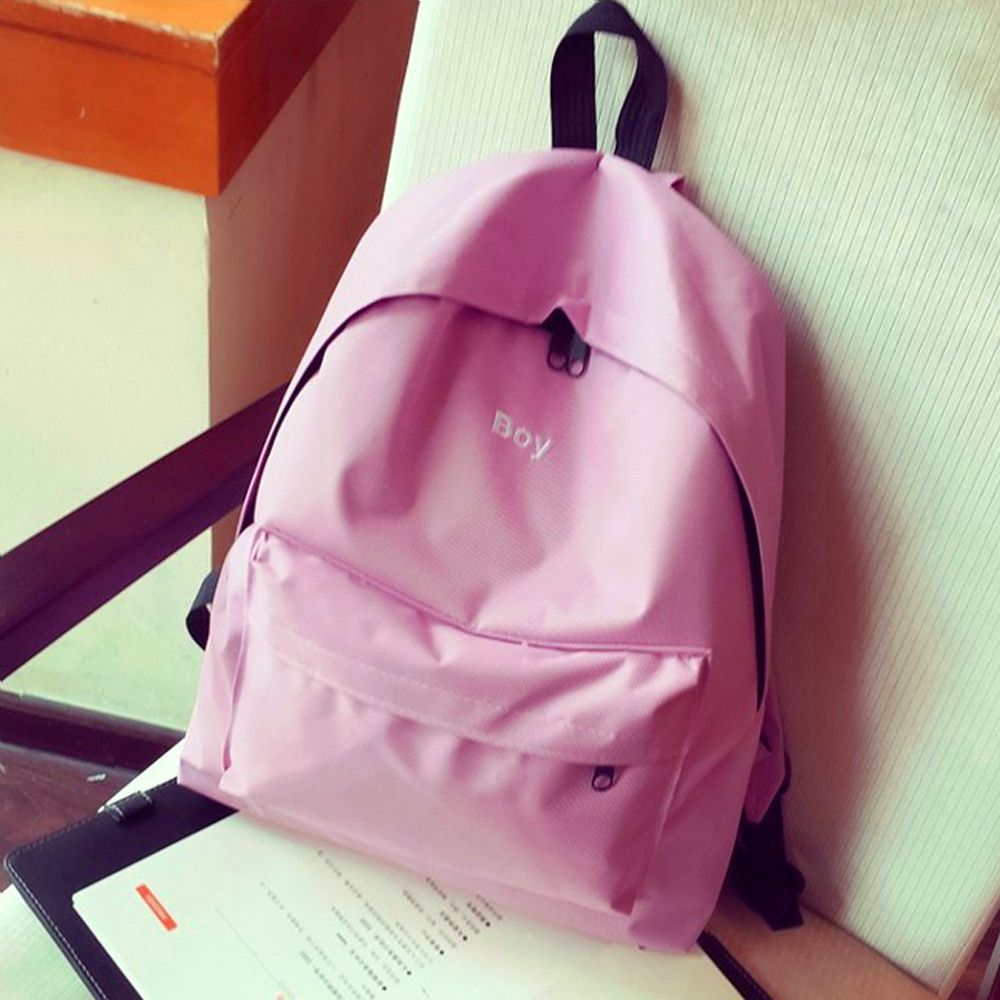 Women's Backpack Solid Color Large Capacity Trendy School Bag