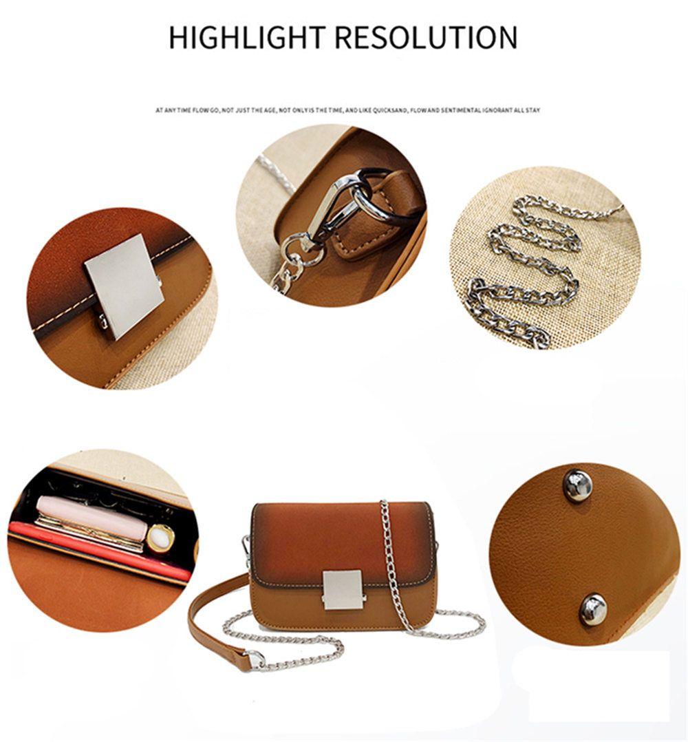Chain Small Square Shoulder Messenger Bag Fashion Wild Lock Handbags