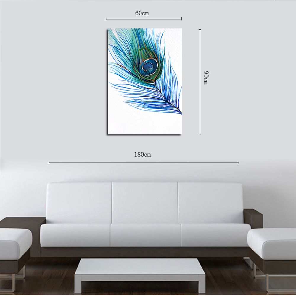 QiaoJiaHuaYuan No Frame Canvas Feather Nordic Living Room Decoration Hanging Print