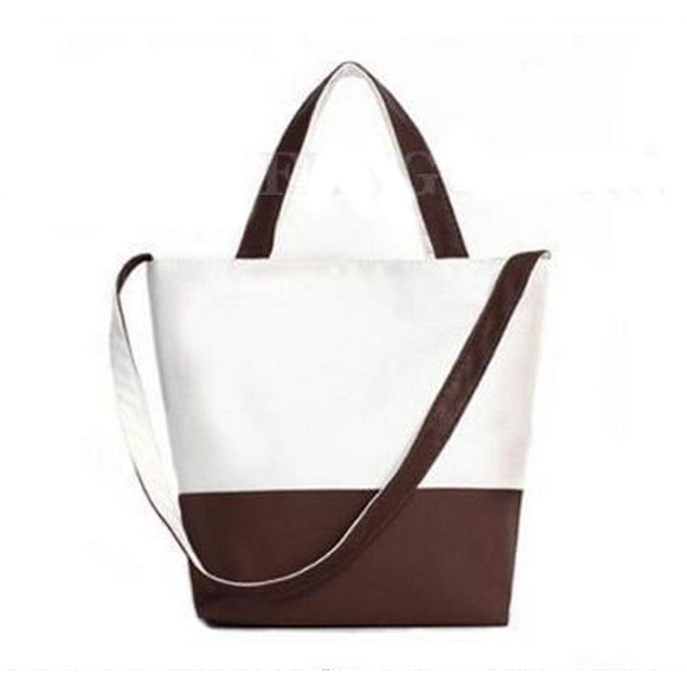 Women's Shoulder Bag Casual Tower Pattern Color Patchwork Canvas Bag