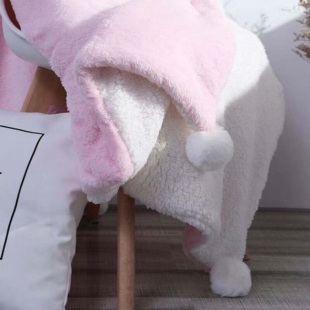 The Four-Horned Rabbit Hair Ball Decorated With Super Soft Lamb Blanket