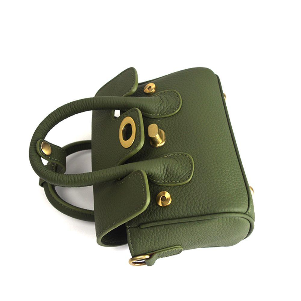 New handbag leather embossed leather shoulder bag small