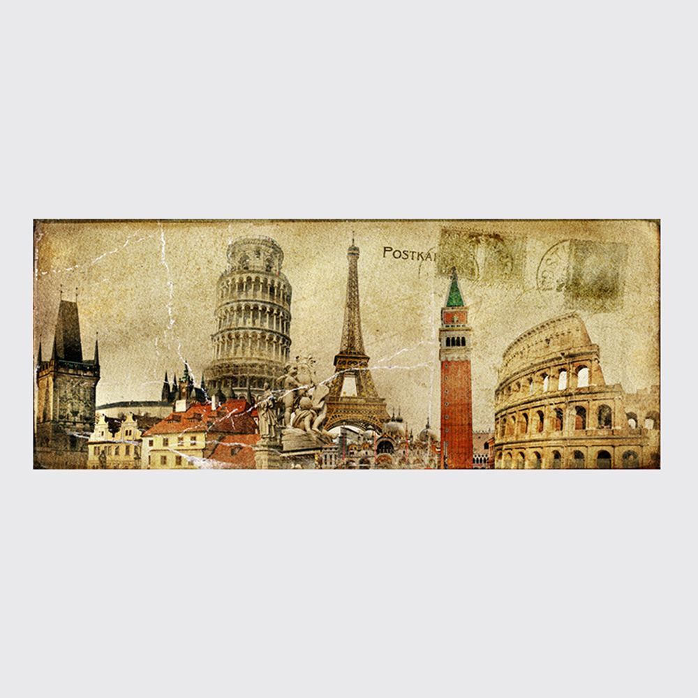 QiaoJiaHuaYuan No Frame Canvas Europe Card Room Sofa Background Decoration Hangs A Picture