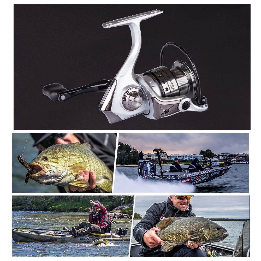 Abu Garcia SILVER MAX 4000 5+1 Ball Bearing 14lb Carbon Fiber Max Drag Gear Ratio 5.5:1 Spinning Fishing Reel