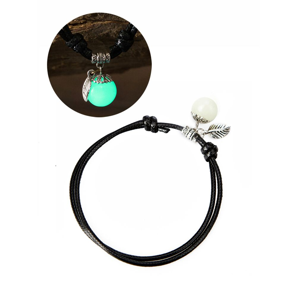 Women Ankle Chain Vintage All Matched Luminous Fashion Accessory YMJL-Black
