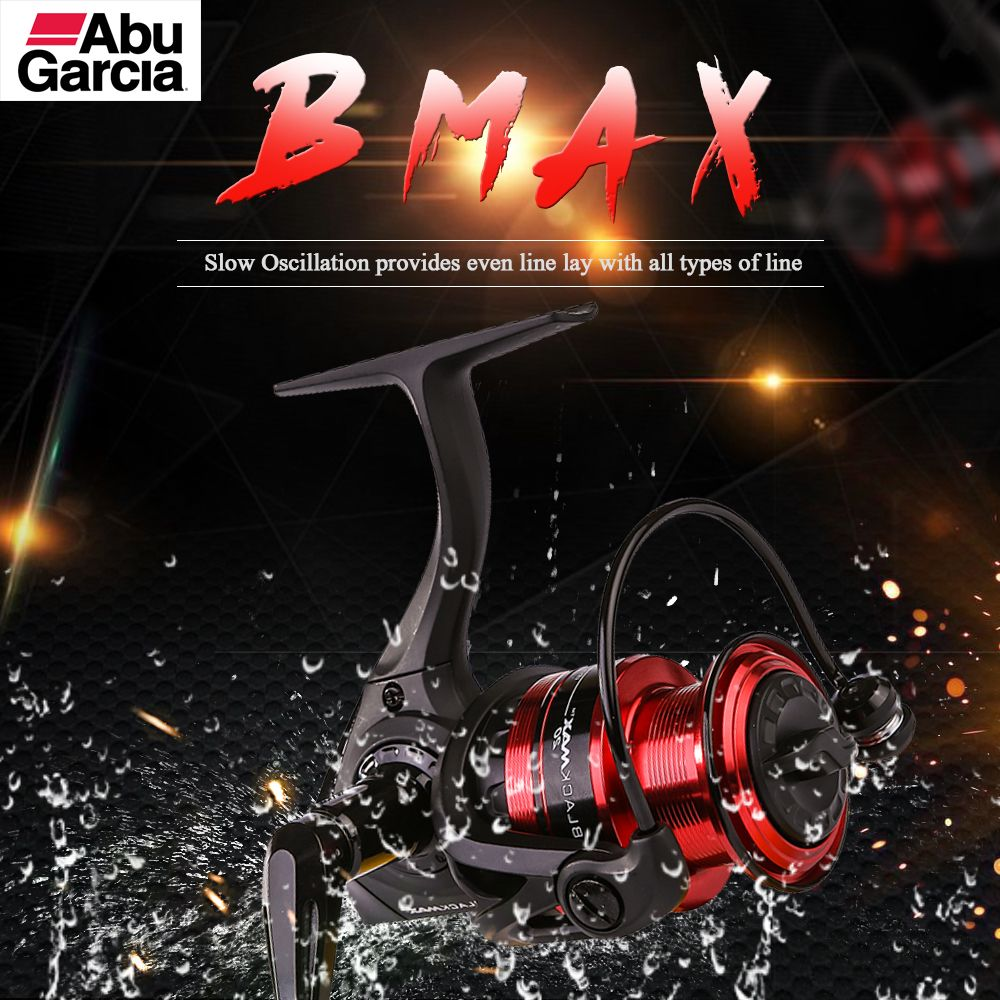 Abu Garcia BLACK MAX 10 Top Quality Good Price 3+1 Ball Bearing 30lb Carbon Fiber Max Drag Spinning Fishing Reel