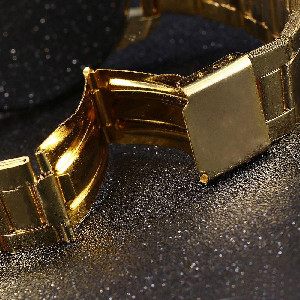 ZhouLianFa New Fashion Golden Diamond Band Ladies Luxury Business Quartz Watch