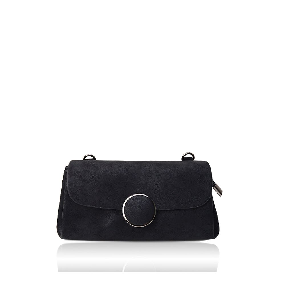 A simple small circle buckle diagonal single shoulder bag hand bag with rectangle