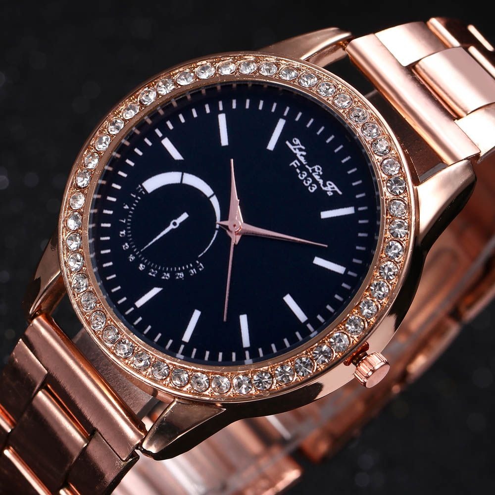 ZhouLianFa New Sports Luxury Trend of Rose Gold Steel Belt Diamond Quartz Watch