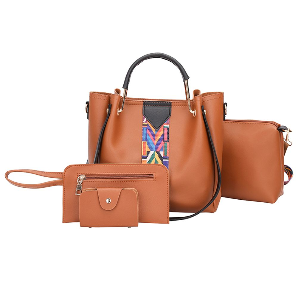 The New Fashion Ribbon of The Four-Piece Bag with A Simple Shoulder Slanted Shoulder Bag