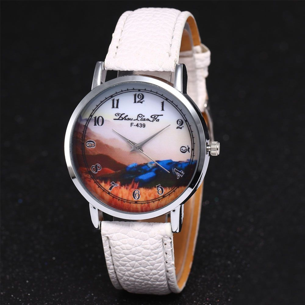 ZhouLianFa New Simple Business Luxury Brand Women'S Lychee Leather Strap Retro Quartz Watch