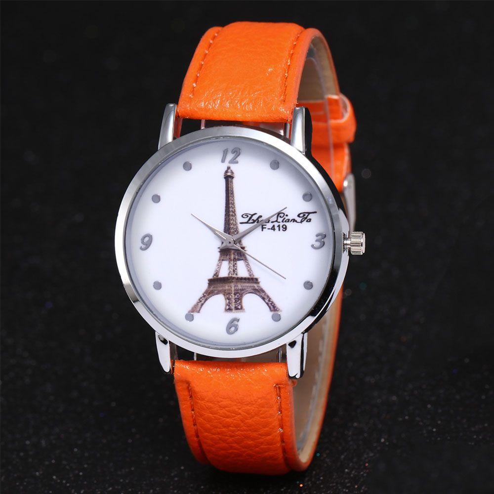 ZhouLianFa New Fashion Trend Lai Chi Pattern Leather Strap Business Casual Ladies Quartz Watch