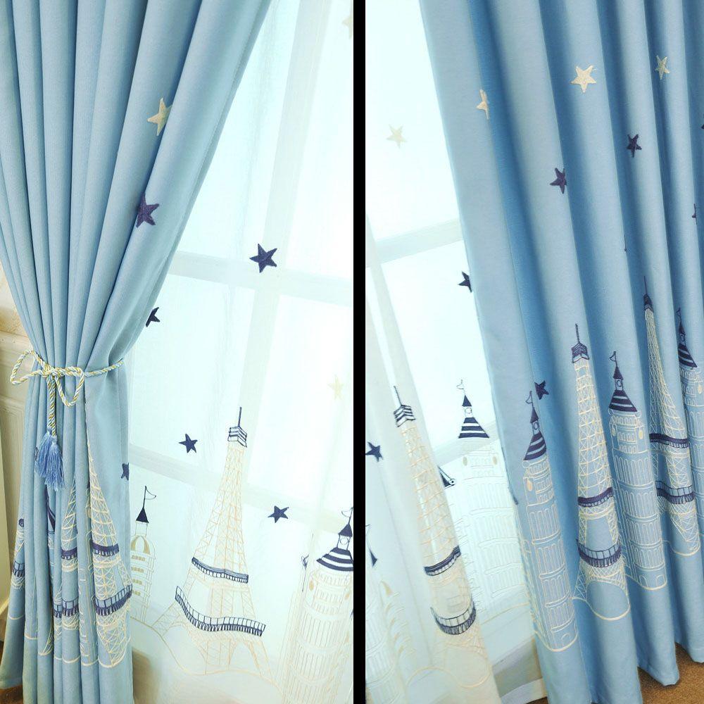 Embroidered Curtain Cartoon curtain  Castle curtain