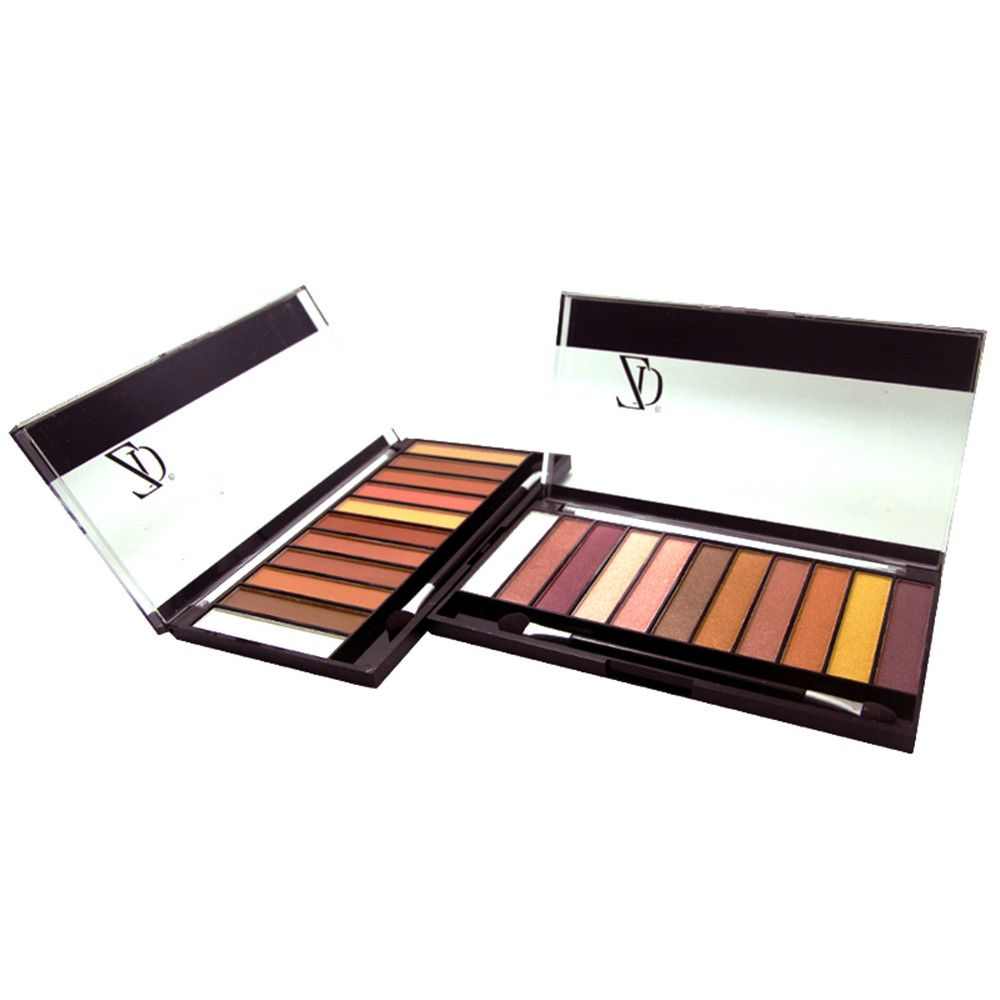 ZD F2067 11 Colors Shimmer Eye Shadow Blusher Palette 1pc