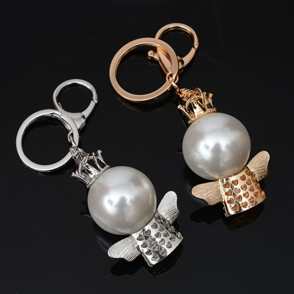 Fashion Great Pearl Ornament Set Auger Bag Buckles Auto Accessories Key Chain