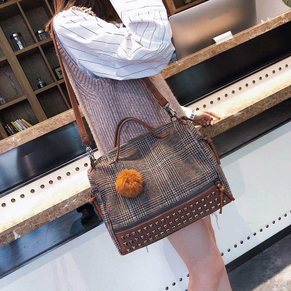 Lattice Single Shoulder Bag 2018 New Fashion Handbag Bag All-Match Simple Tide