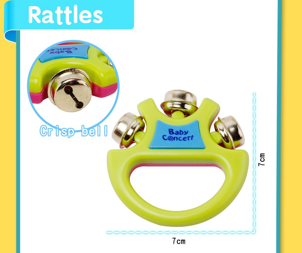 Children early education drum music educational instrument combination 5 joy woolly waist drum hand bell trumpet baby
