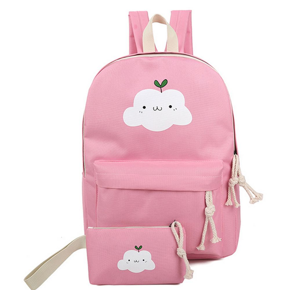 Women's Backpack Set Lovely Cartoon Trendy All Matched Simple Style Bags Set