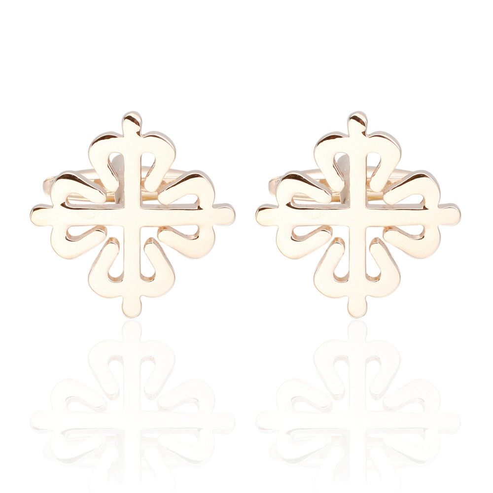 Dual Color Flower Cufflinks French Long Sleeved Shirt Nails
