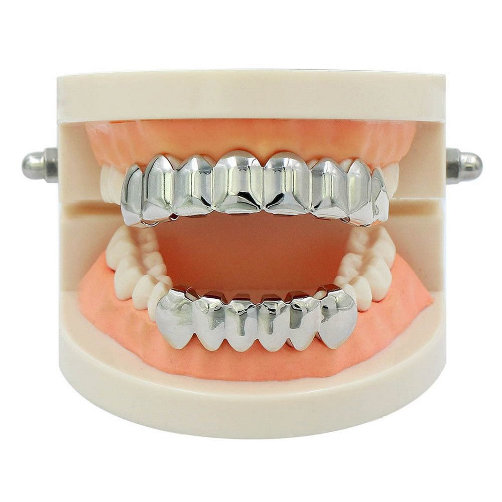 Hip Hop 18K Gold Plated 8 Teeth Classic Grillz