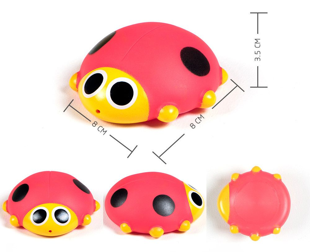 Cute Animals Floating Squeeze Sounding Baby Bath Toys Soft Rubber Kids Children Swimming pool Toy Frog Baby Shower