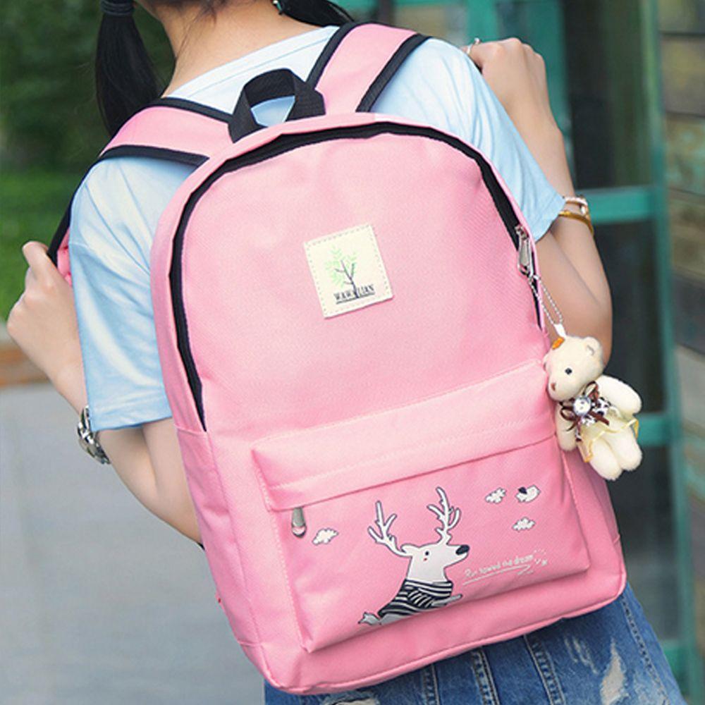Girl's Bags Set Cartoon Pattern Backpack Shoulder Bag Pencil Bag Purse Set