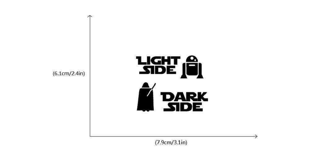 Dark Side Light Side Switch Sticker Cartoon Vinyl Wall Decal Home Decor