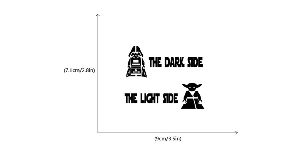 Star Wars Dark Side Light Side Switch Sticker Cartoon Decor