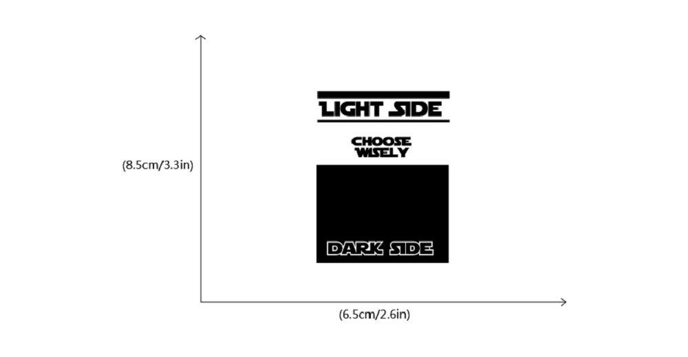 Movie Star Wars Dark Side Light Side Switch Sticker Cartoon Vinyl Wall Stickers Home Decor