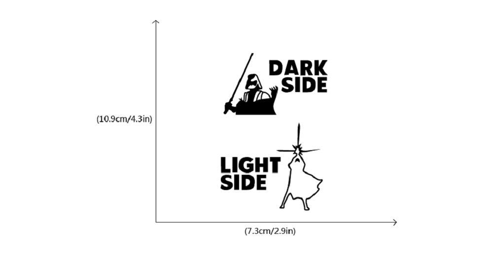 Dark Side Light Side Switch Sticker Wall Decal Home Decor