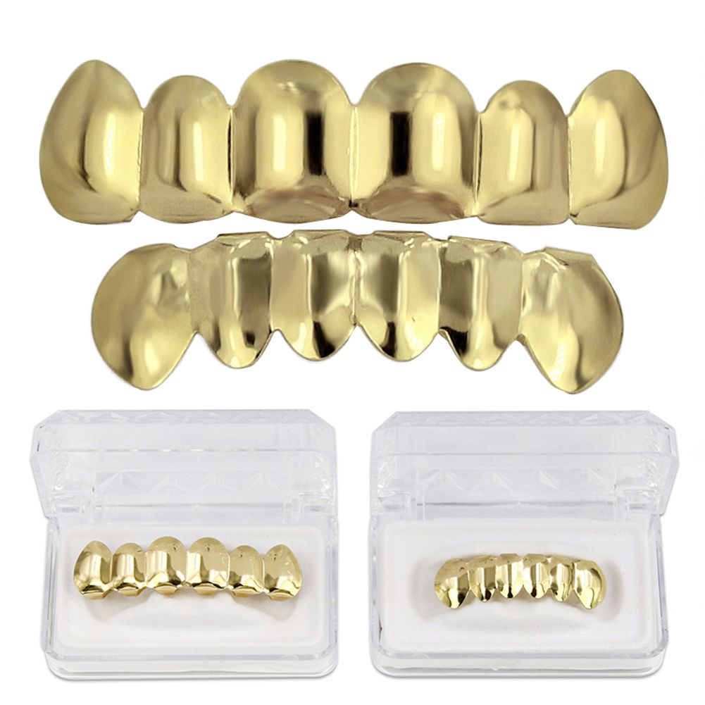 Hip Hop 18k Gold Plated Gold  Classic Grillz