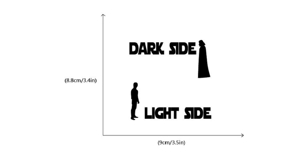 Star Wars Dark Side Switch Sticker Vinyl Wall Sticker Home Decor