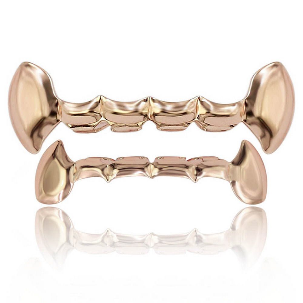 Hip Hop 18K Gold Plated Vampire Fangs Teeth Grillz