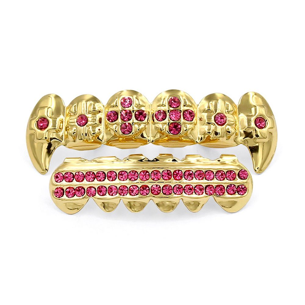 Hip Hop 18K Gold Plated Vampire Teeth Grillz