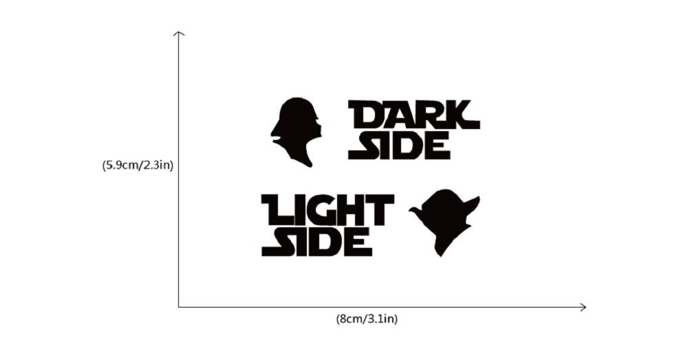 Switch Sticker Dark Side Light Side Cartoon Vinyl Wall Decal Home Decoration