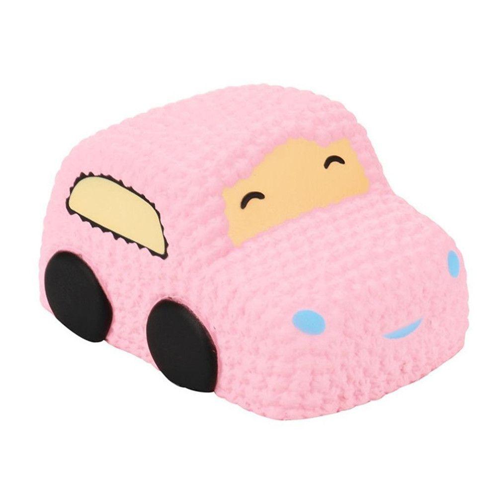 Slow Rising Squishy Car Cake Jumbo Big Strawberry Scented Cartoon Toy