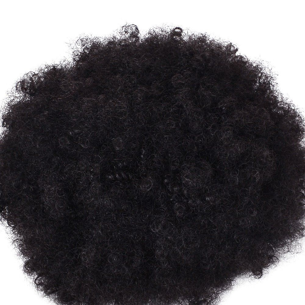 Afro Kinky Curly Synthetic Hair Bun Extension Chignon Hairpieces Wig for American Black Women