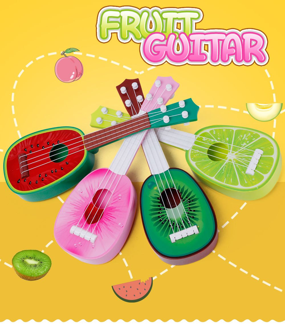 Especially in the Kerry Mini Fruit Guitar Beginners Guitar sound Instrument Toys
