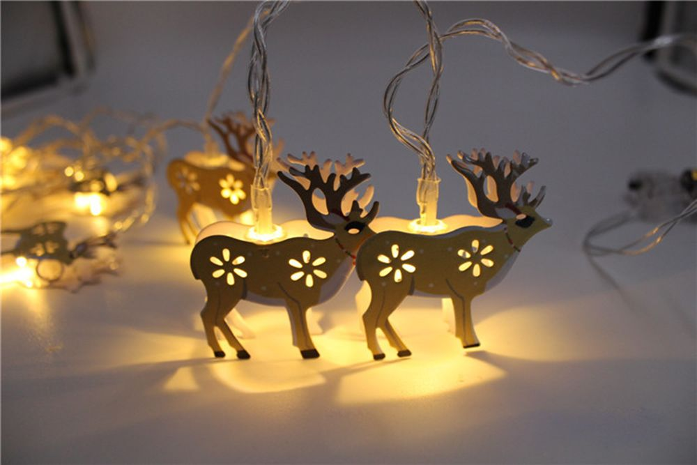 BRELONG LED Christmas Elk light string Holiday decoration -1.5m10led