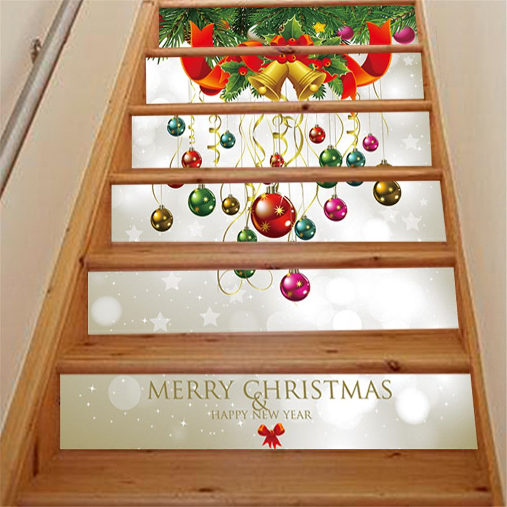 ZB013 Personalized Christmas 3D Self-Adhesive Painting Decoration Home Drawing Living Room Stairs Sticker
