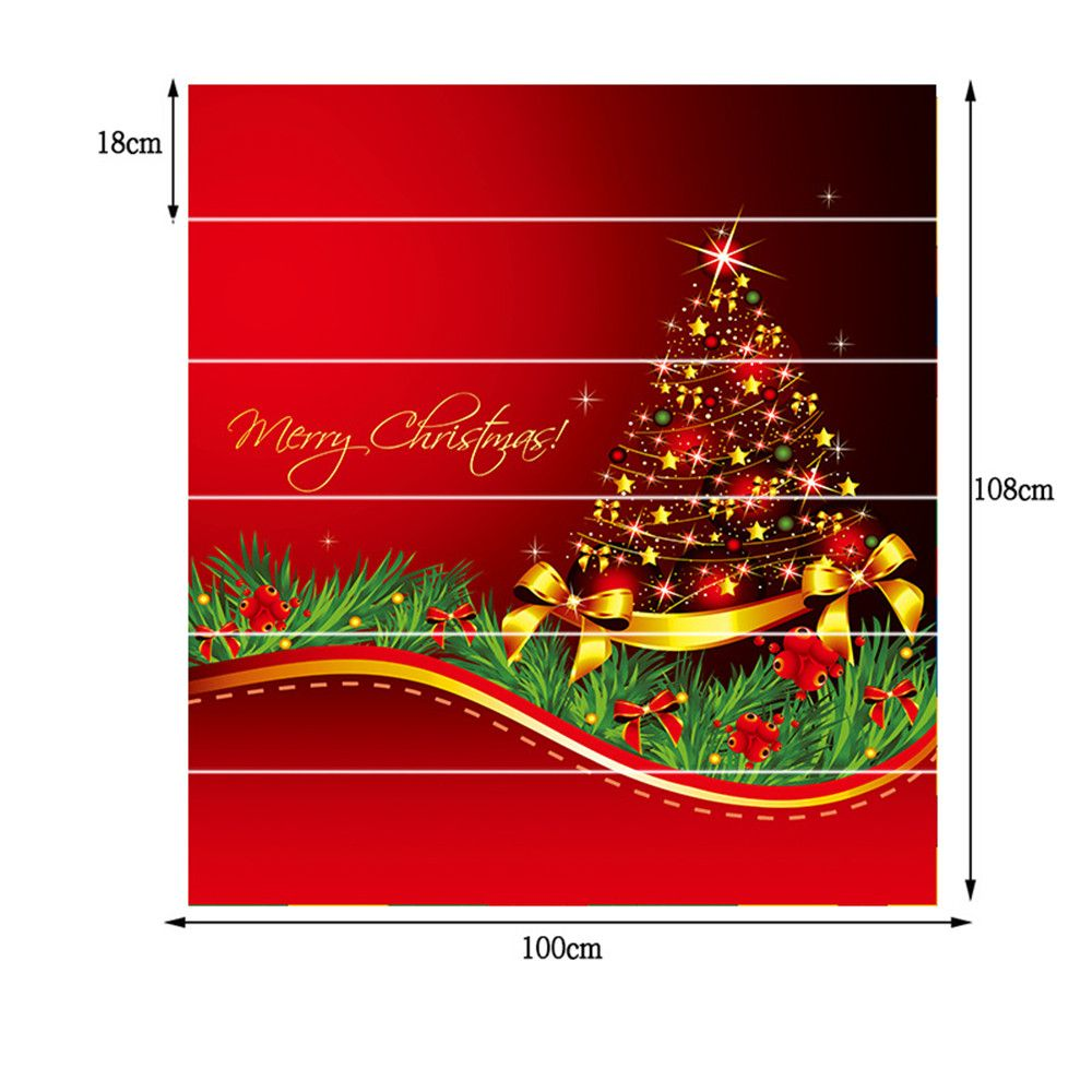 ZB014 Personalized Christmas Tree 3d Self-Adhesive Painting Decorative Stairs Sticker