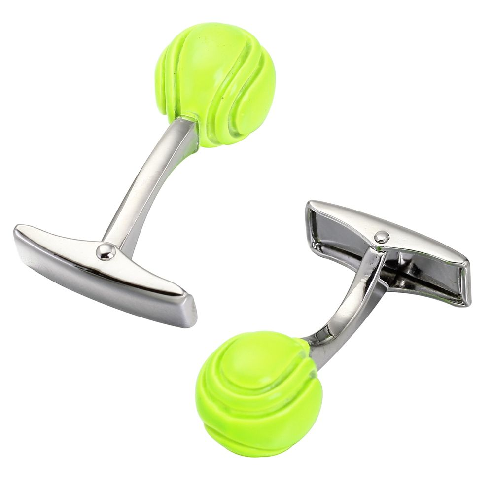 Green Tennis Cufflinks High-Quality French Cuff Links