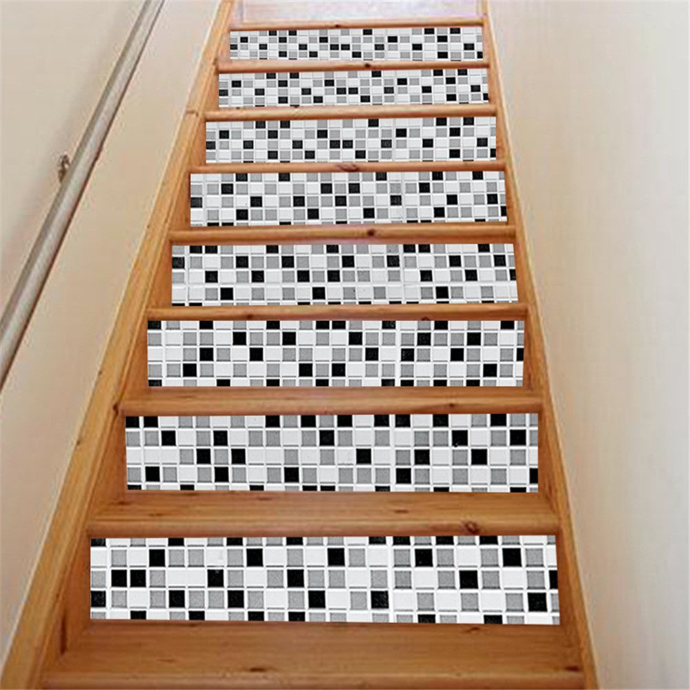 ZB16 Creative Corridor 3d Mosaic Decorative Wall Sticker Staircase Sticker
